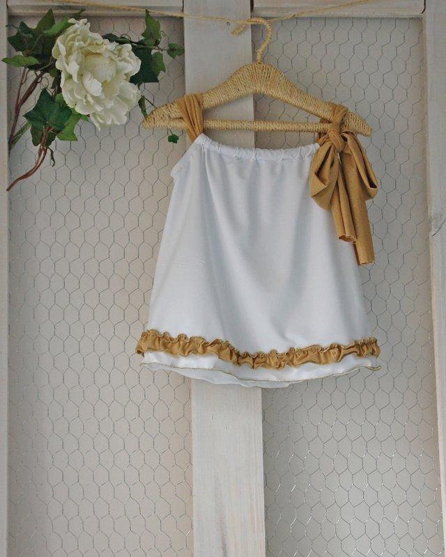 Blusa Blanca dorado 19
